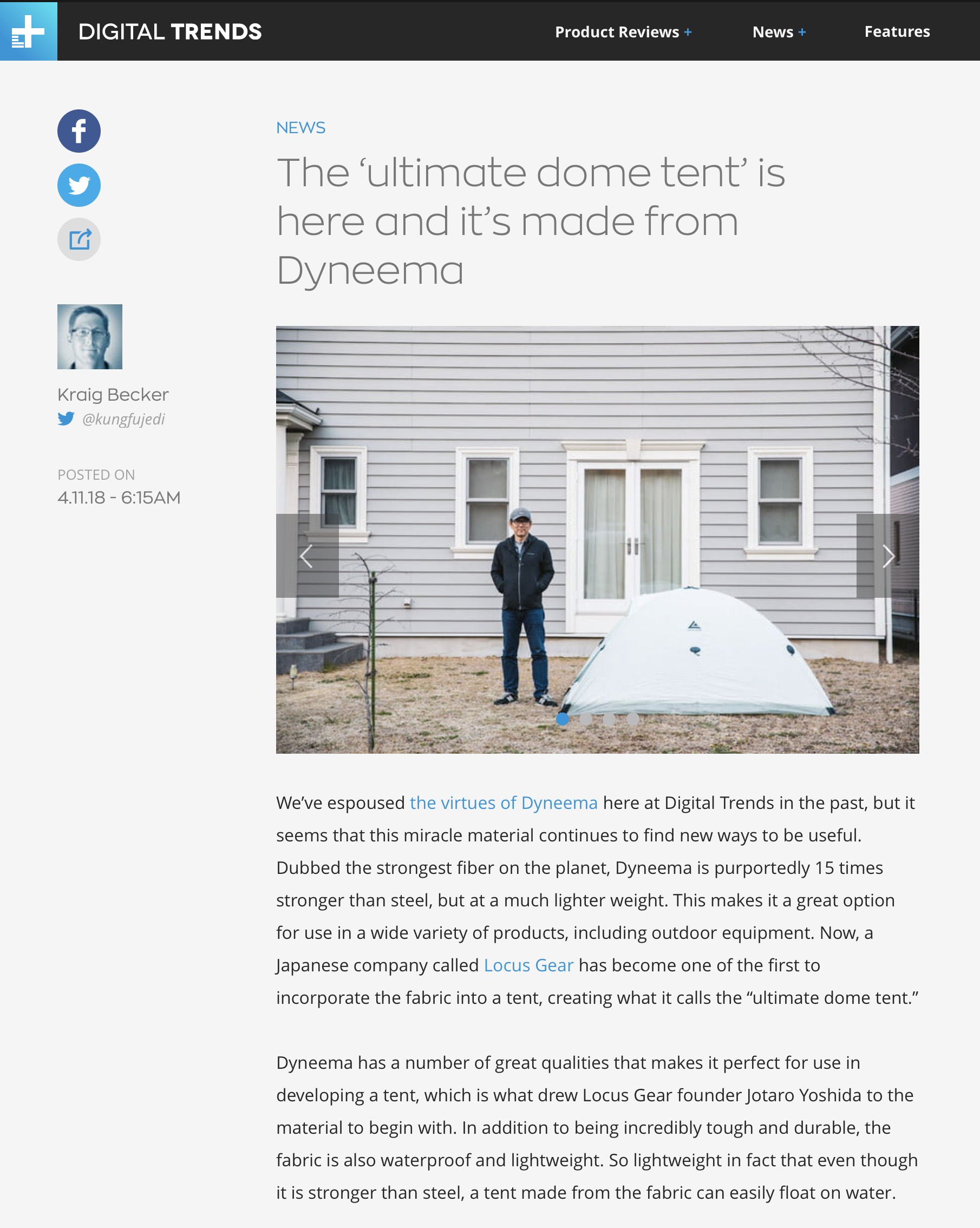 Digital Trends | The ultimate dome tent