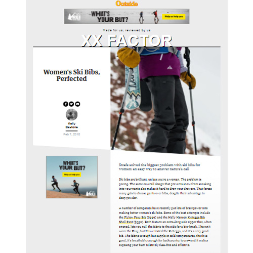 Outside | Women's Ski Bibs, Perfected